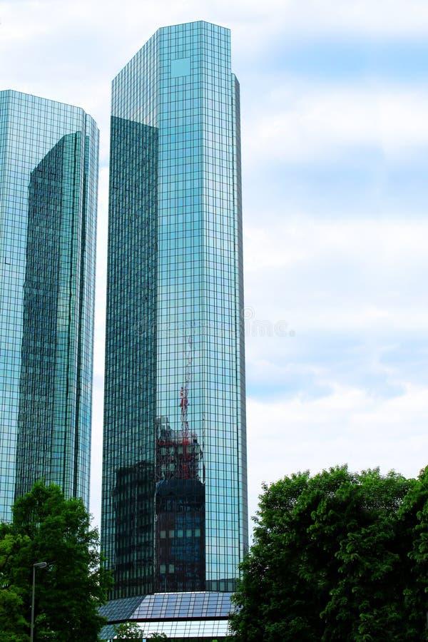 Wolkenkrabber in Frankfurt stock foto