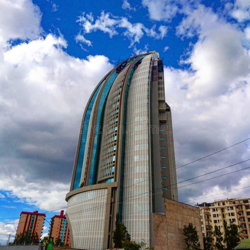 Wolkenkrabber op het gebied van Nairobi Kenia Kilimani royalty-vrije stock foto