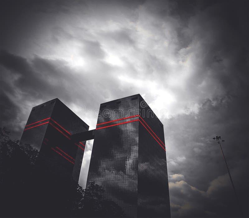 Wolkenkrabber stock afbeeldingen