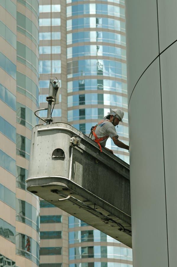 Wolkenkrabber Worker2 royalty-vrije stock afbeeldingen