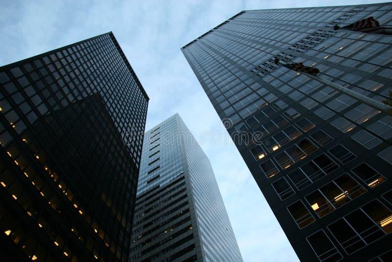 Wolkenkrabbers bij Financieel District royalty-vrije stock fotografie