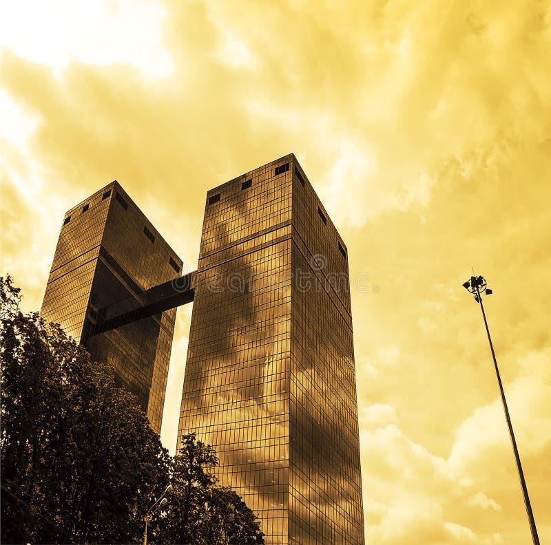Wolkenkrabbers stock afbeelding