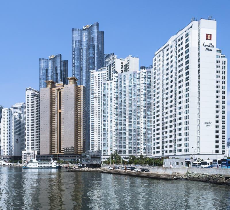 Wolkenkrabbers in Busan stock fotografie