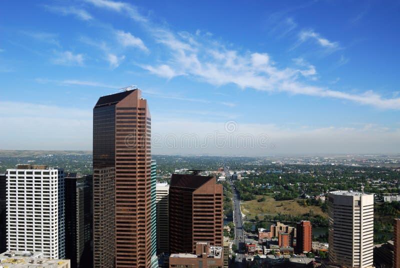 Wolkenkrabbers in Calgary de stad in royalty-vrije stock fotografie