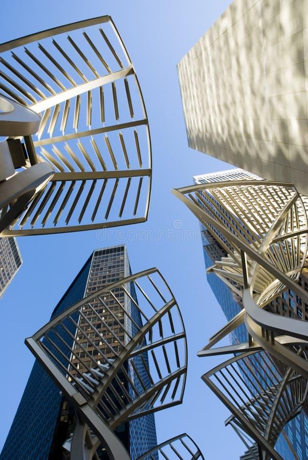 Wolkenkrabbers in Calgary van de binnenstad royalty-vrije stock fotografie