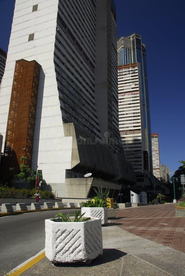 Wolkenkrabbers in Centraal Caracas royalty-vrije stock foto's