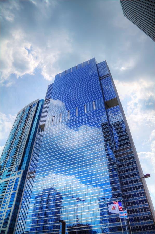 Wolkenkrabbers In Chicago Van De Binnenstad, Illinois Stock Afbeeldingen
