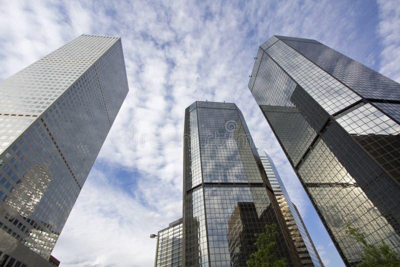Wolkenkrabbers in Denver royalty-vrije stock foto's