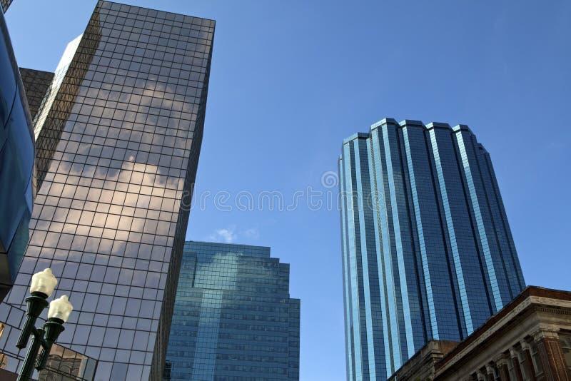 Wolkenkrabbers, Edmonton, Canada royalty-vrije stock afbeeldingen