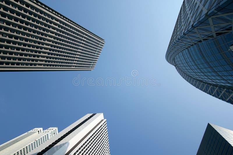 Wolkenkrabbers in het centrum van Japan royalty-vrije stock foto's