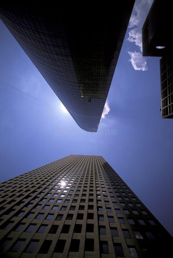 Wolkenkrabbers In Houston Van De Binnenstad Stock Foto