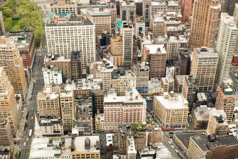 Wolkenkrabbers in NYC royalty-vrije stock afbeelding