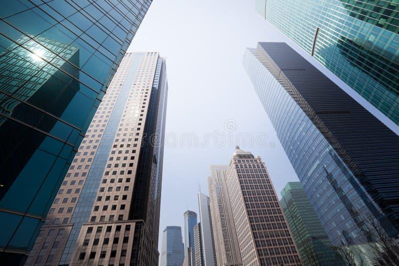 Wolkenkrabbers in Shanghai royalty-vrije stock foto