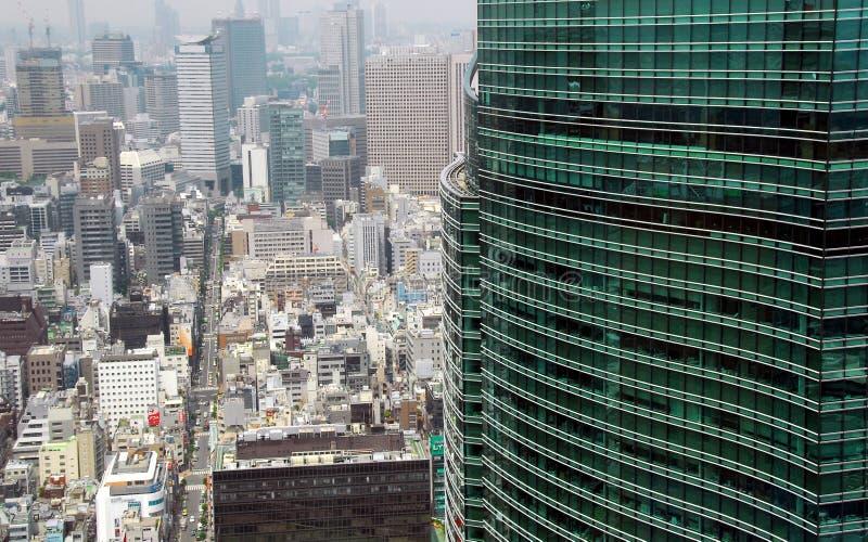 Wolkenkrabbers Tokyo royalty-vrije stock foto