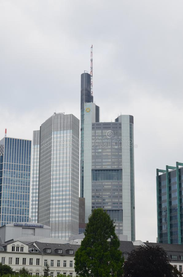 Wolkenkrabbers van Frankfurt-am-Main, Duitsland stock fotografie