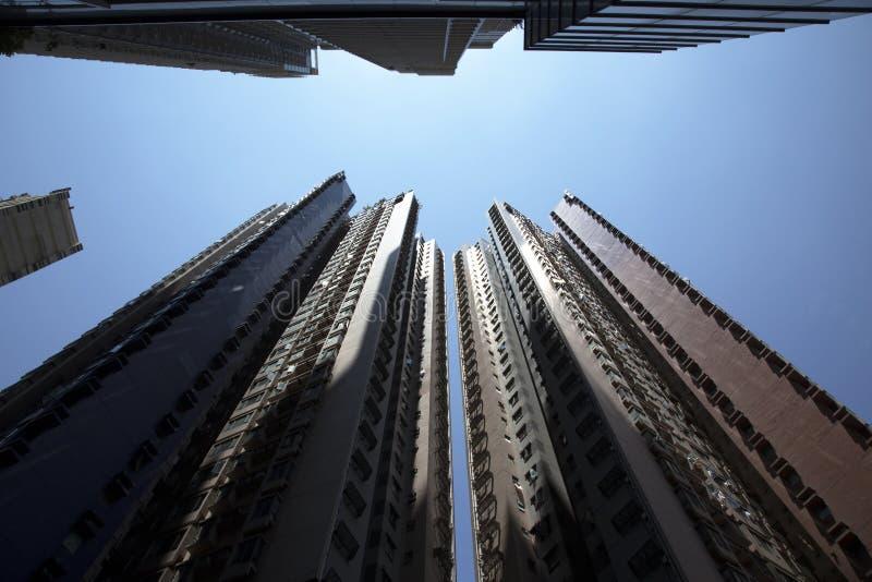 Wolkenkrabbers van Hongkong royalty-vrije stock afbeeldingen