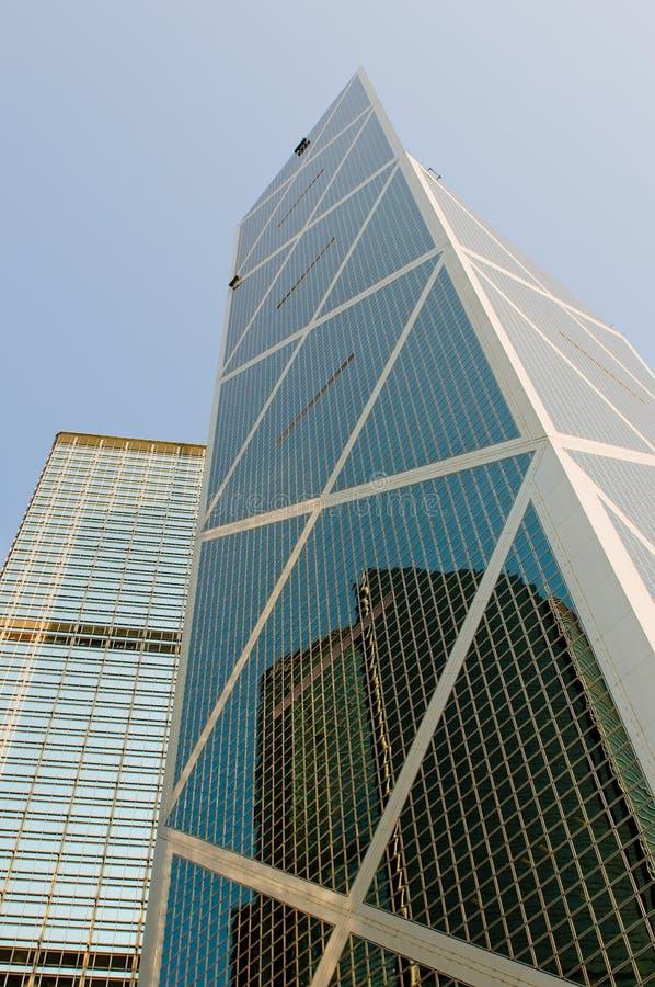 Wolkenkrabbers van Hongkong stock fotografie