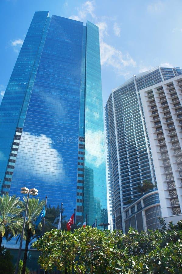 Wolkenkrabbers van Miami stock afbeelding