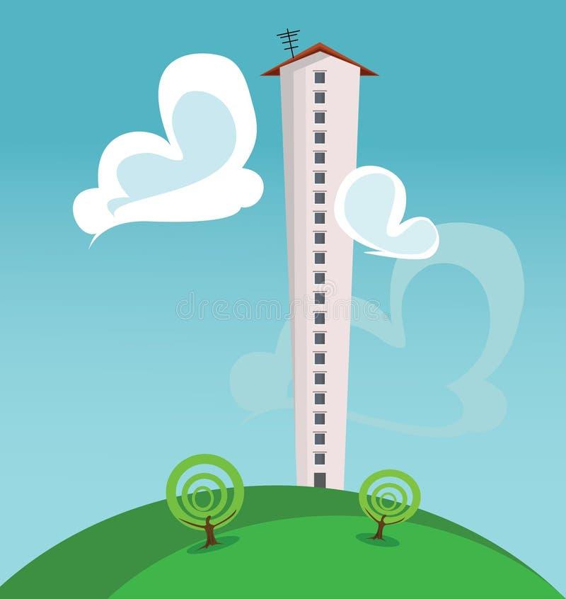 Wolkenkratzer vektor abbildung