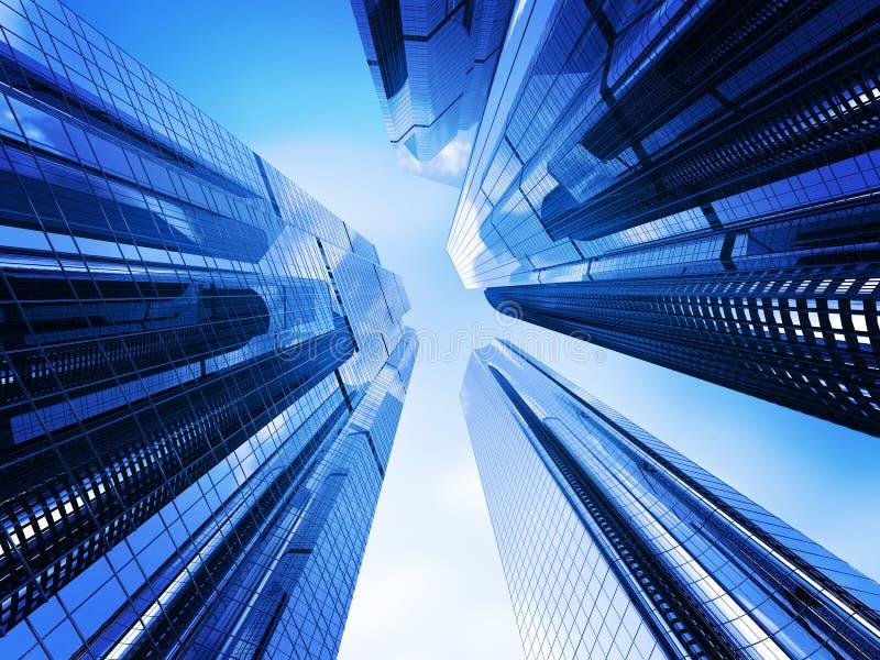 Wolkenkratzer lizenzfreie abbildung