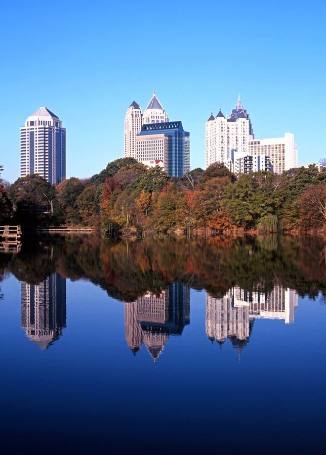 Wolkenkratzer, Atlanta, Georgia. stockfotos