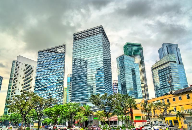 Wolkenkratzer in Bonifacio Global City - Manila, Philippinen lizenzfreie stockfotografie