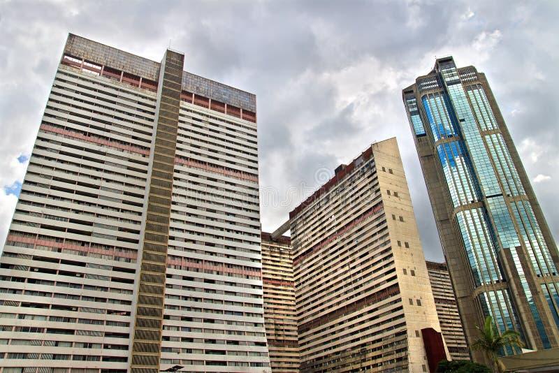 Wolkenkratzer in der Mitte von Caracas, Venezuela lizenzfreies stockfoto