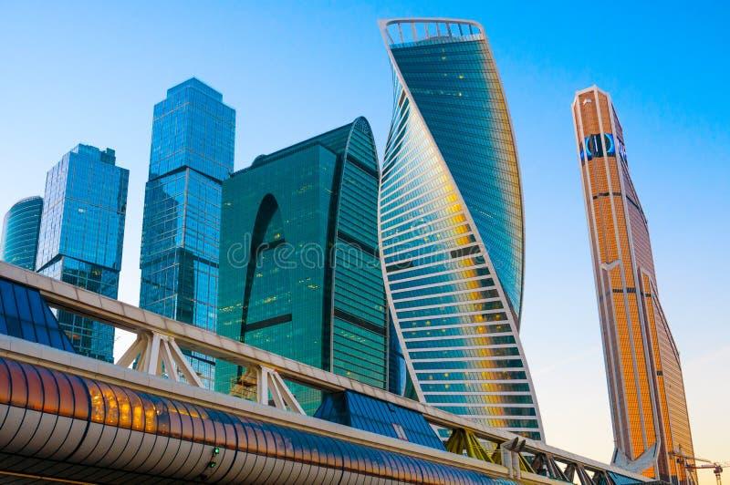 Wolkenkratzer der Moskau-Stadt lizenzfreies stockfoto