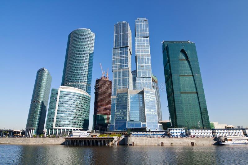 Wolkenkratzer des Moskau-Stadt Geschäftszentrums stockfotografie