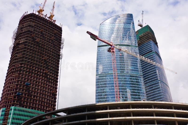 Wolkenkratzer des Moskau-Stadt Geschäftszentrums lizenzfreies stockfoto