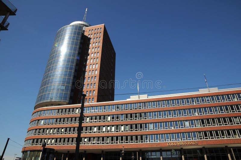 Wolkenkratzer in Hamburg, Deutschland stockbild