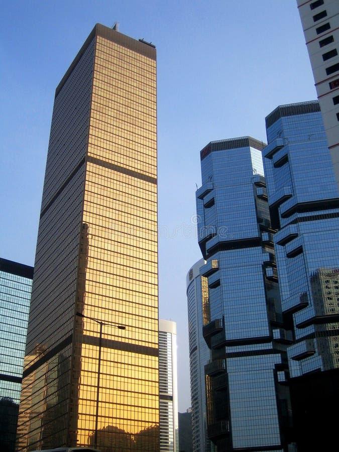 Wolkenkratzer in Hong Kong stockfotos