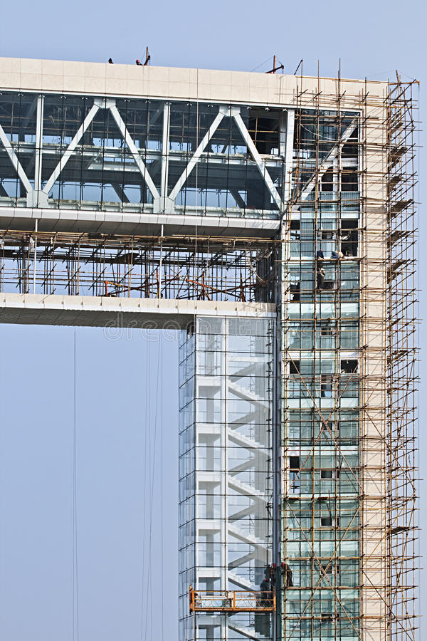 Wolkenkratzer im Bau, China lizenzfreies stockbild