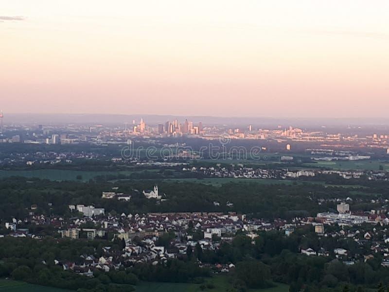 Wolkenkratzer im Frankfurt-Finanzbezirk stockfoto