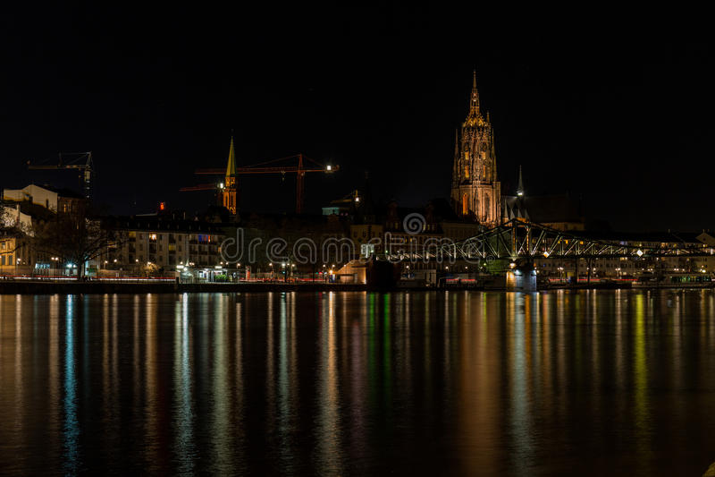Wolkenkratzer im Frankfurt-Finanzbezirk lizenzfreies stockfoto