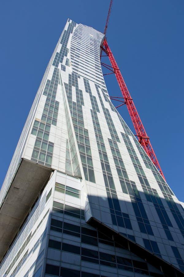 Wolkenkratzer im warsawe lizenzfreies stockbild