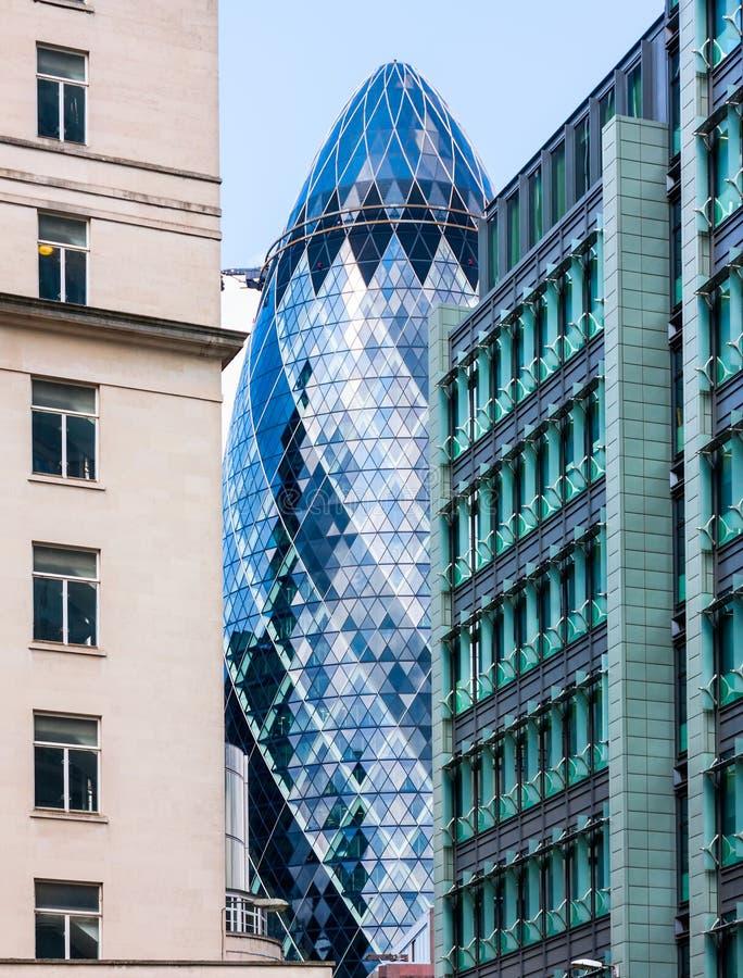 Wolkenkratzer in London stockfotografie