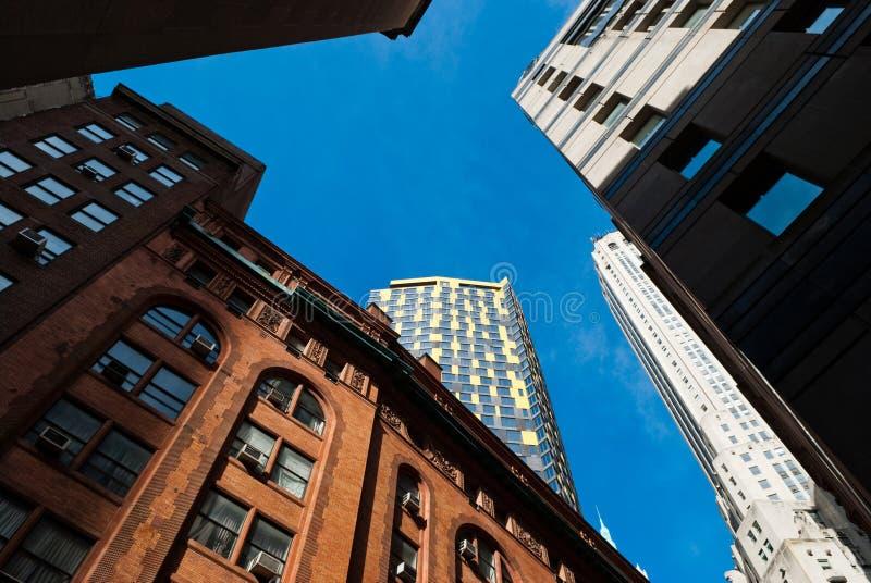 Wolkenkratzer in New York City stockfotos