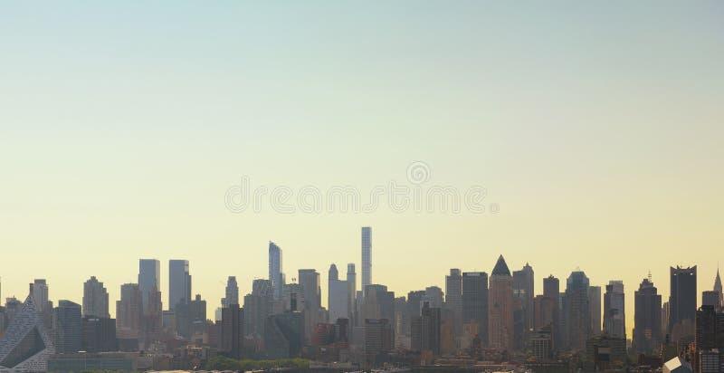 Wolkenkratzer in New York City, USA stockbild