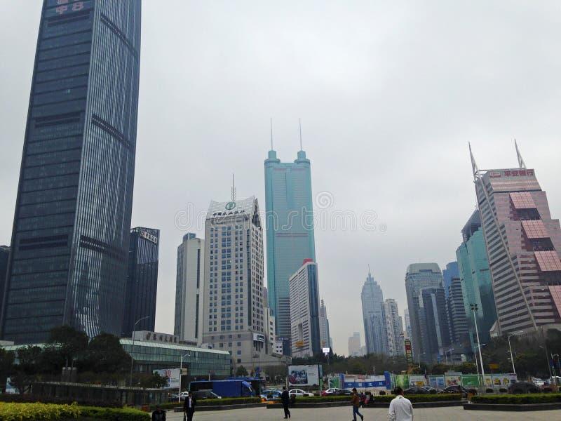 Wolkenkratzer in Shenzhen lizenzfreies stockfoto