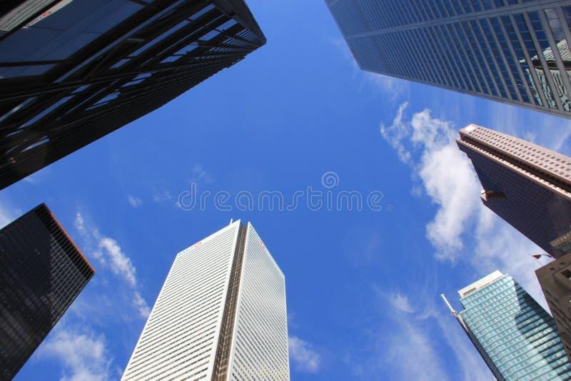 Wolkenkratzer in Toronto, Finanzmitte stockbild