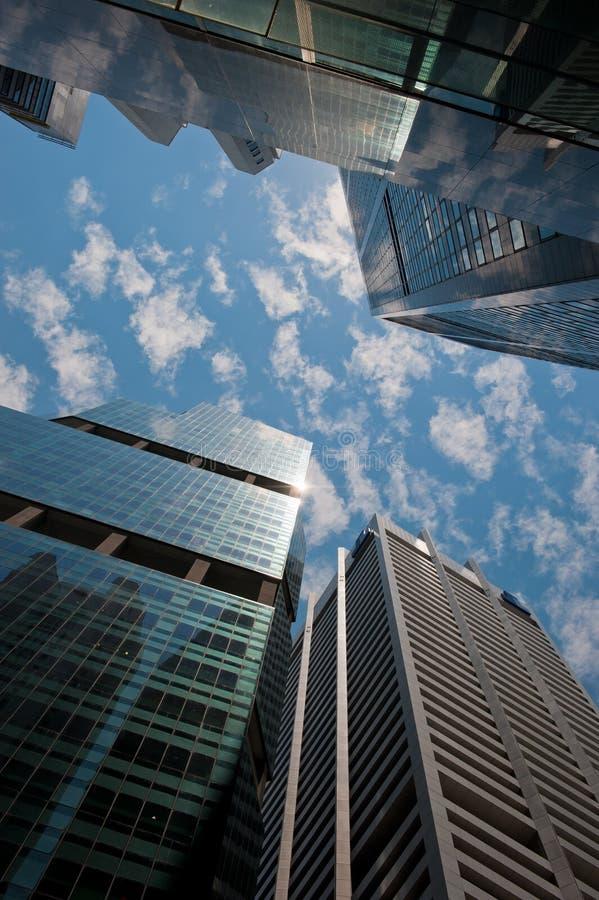 Wolkenkratzer, typisches städtisches Stadtbild stockbilder