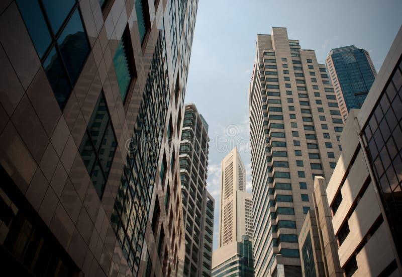 Wolkenkratzer, typisches städtisches Stadtbild stockbild