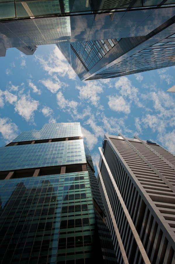 Wolkenkratzer, typisches städtisches Stadtbild lizenzfreies stockfoto