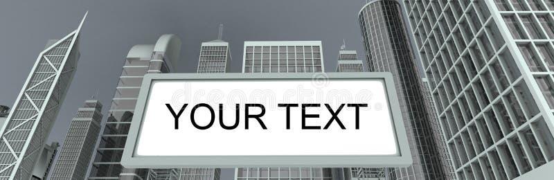 Download Wolkenkratzer U. Anschlagtafel Stock Abbildung - Illustration von finanziell, direkt: 7416502