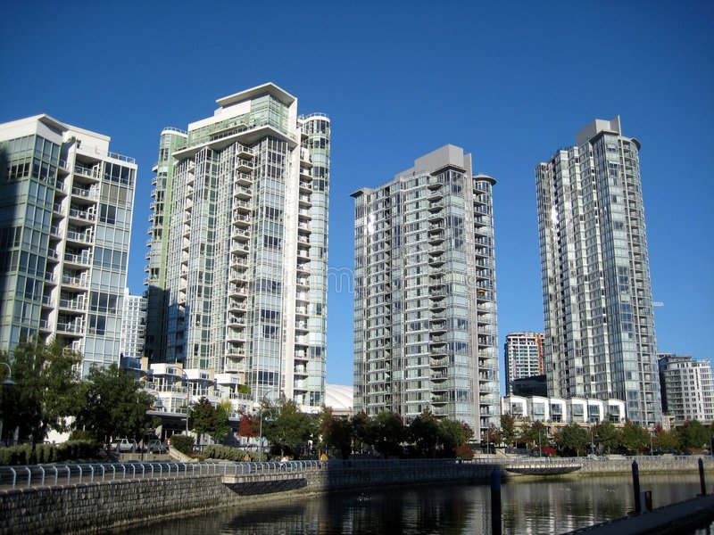 Wolkenkratzer in Vancouver lizenzfreies stockfoto
