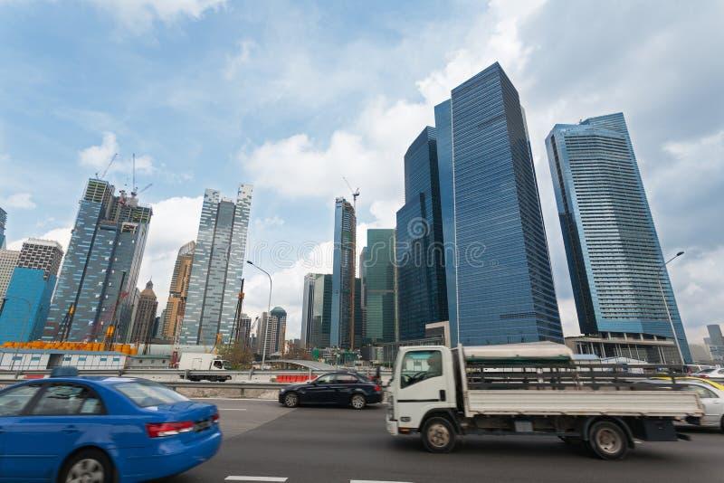 Wolkenkratzer von Singapur stockfotografie