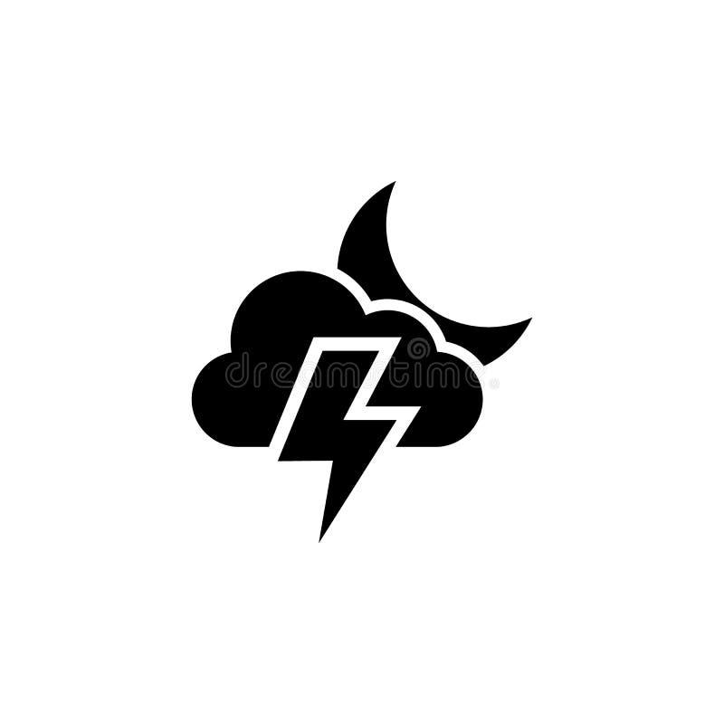 Wolkenlicht- und -mondikone r Zeichen und Symbole können für Netz, Logo, mobiler App, UI, UX verwendet werden stock abbildung