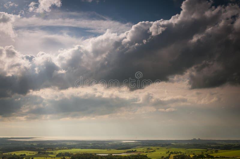 Wolkenlinie stockfotos