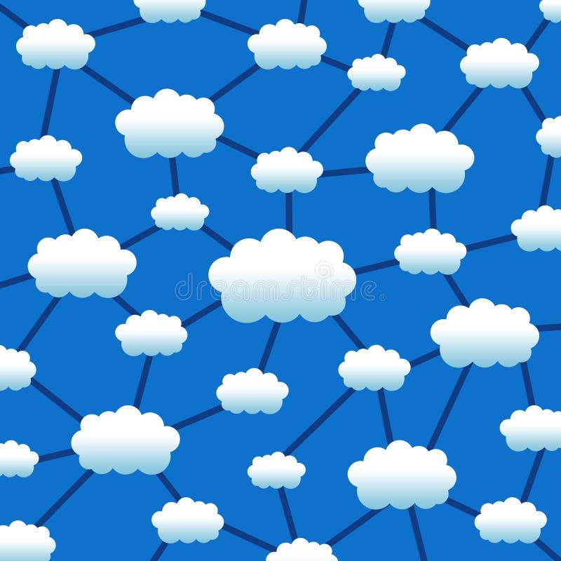 Wolkennetwerk vector illustratie